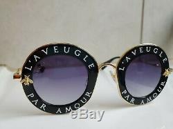 Nouveau Gucci Lunettes De Soleil 001 Gg0113s L'aveugle Par Amour Noir. Nouveau