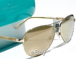 Nouveau Kate Spade Blossom Or Aviateur Gold Miroir Lentille Womens Sunglass