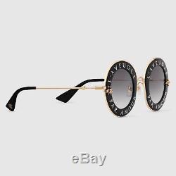 Nouveau Lunettes De Soleil Authentiques Gucci Gg0113s À Monture Ronde L'aveugle Par Amour