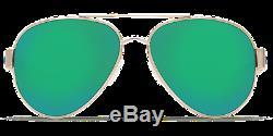 Nouveau Lunettes De Soleil Costa Del Mar South Point Or Vert Mirror Glass 580g Polarized
