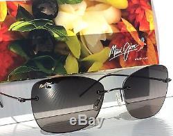 Nouveau Maui Jim Apapane Rimless W Gris Polarisé Lentille Sunglass Femmes Gs717-02d