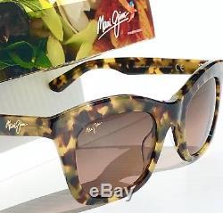 Nouveau Maui Jim Coco Palm Tokyo Tortoise W Lunettes De Soleil Polarisées Pour Femmes Rose Rs720-10l
