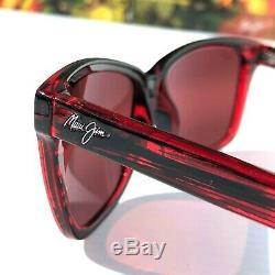 Nouveau Maui Jim Jacaranda Red Stripe Polarise Gris Femmes Sunglass R763-07