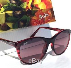 Nouveau Maui Jim Mannikin Améthyste Rose Fade Polarisé Femmes Sunglass Rs704-07