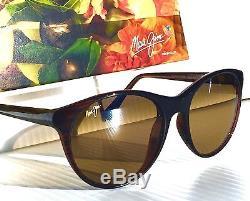 Nouveau Maui Jim Mannikin Brown Stripe Polarized Bronze Sunglass Femmes Hs704-26s