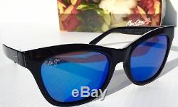 Nouveau Maui Jim Sweet Leilani Lunettes De Soleil B722-02 Black W Polarized Blue Pour Femmes