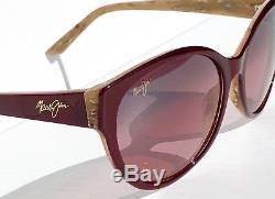 Nouveau Maui Jim Venus Pools Rubis Bourgogne Polarised Bronze Sunglass Rs100-04b