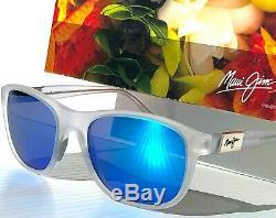 Nouveau Maui Jim Wākea Matte Clair Polarise Bleu Saphir Femmes Sunglass B745-05