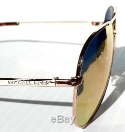 Nouveau Michael Kors Aviateur W Rose Gold Miroir Rodinara Sunglass Mk5009