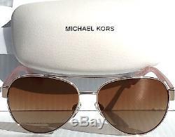 Nouveau Michael Kors Aviator Matte Pink Silver W Lens En Bronze Mk 1014 Blair Lunettes De Soleil