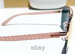 Nouveau Michael Kors Barcelona Pink Rose Gold Mirror Aviator Womens Sunglass Mk1048