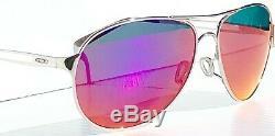 Nouveau Oakley Caveat Argent Polarises Femmes Violet 60mm Aviator Sunglass 4054