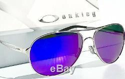 Nouveau Oakley Caveat Polarise Galaxy Violet Argent Aviator Femmes Sunglass 4054