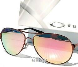 Nouveau Oakley Caveat Polarise Or Rose 60mm Aviator Brunette Femmes Sunglass 4054