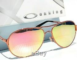 Nouveau Oakley Caveat Polarise Or Rose 60mm Aviator Femmes Sunglass 4054-01