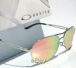 Nouveau Oakley Caveat Polarise Rose Gold Silver Aviator Femmes Sunglass 4054