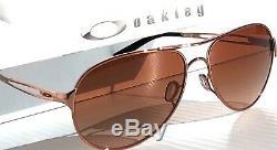 Nouveau Oakley Caveat Rose Gold 60mm Aviator Sunglass De Femmes 4054-01