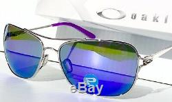 Nouveau Oakley Conquest Silver Aviator Polarized Violet Haze Lunettes De Soleil Femme 4101