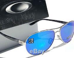 Nouveau Oakley Feedback Aviator Chrome Lunettes De Soleil En Saphir Priarm Polarisé 4079-33