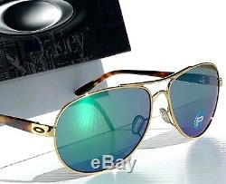 Nouveau Oakley Feedback Gold Aviator W Lunettes De Soleil Pour Femmes Jade Polarisées Jade 4079-20
