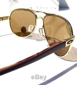 Nouveau Oakley Tie Breaker Gold Polarized Lunettes De Soleil Pour Femmes Aviator 4108-03