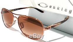 Nouveau Oakley Tie Breaker Or Rose Aviator W Lunettes De Soleil Pour Femmes Brown Lens 4108-08