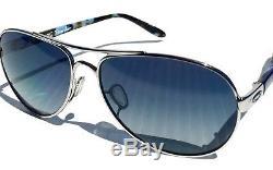 Nouveau Oakley Tie Breaker Silver Aviator W Lunettes De Soleil Pour Femmes Grises Brunes 4108-02