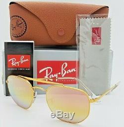 Nouveau Rayban Rb3648 Lunettes De Soleil Marshal 9001 / I1 Bronze Rose Dégradé Miroir 3648