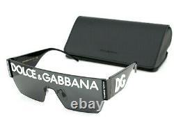 Nouveau Véritable D & G Dolce & Gabbana Dg Logo Black Shield Lunettes De Soleil En Métal 2233 01/87