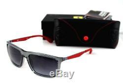 Nouveau Véritable Scuderia Ferrari Ray-ban Gris Rouge Lunettes De Soleil Rb 4228-m F610 / 8g 58 MM