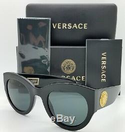 Nouveau Versace Ve4353 Gb1 / 87 51mm Noir Or Gris Vert Authentique 4353