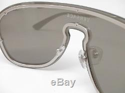 Nouveau Versace Ve 2180 1000 / 6g Silver Withlight Grey Mirror Silver Lunettes De Soleil