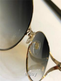 Nouveaux Authentiques Gucci Gg0225s 003 Green Gold Lunettes De Soleil Oversize Femmes 08896520495
