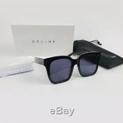 Nouvelle Celine Cl41076 / S Tilda Noir Gris Lunettes De Soleil Lunettes Femmes Italie