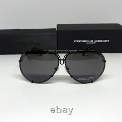 Nouvelle Porsche Design P8478 Titanium Matt Black Men Lunettes Lunettes Femme Lunettes 69 MM