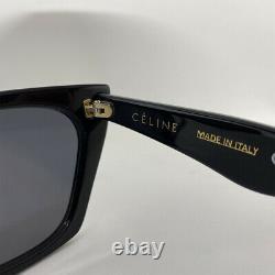 Nouvelles Lunettes De Soleil Authentiques Celine Edge CL 41468/s 807ir Lunettes De Soleil Noires 51mm