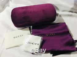 Nouvelles Lunettes De Soleil Gucci Gg0481 Oversize Square Crystals Noir Gris Authentique