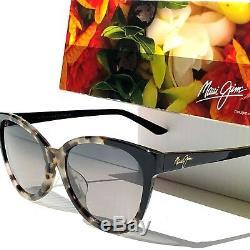 Nouvelles Lunettes De Soleil Pour Femmes Gs725-61 Maui Jim Sunshine White Tortoise Polarized Gris
