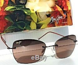 Nouvelles Lunettes De Soleil Pour Femmes Rs717-07 Maui Jim Apapane Rimless W Rose Lens