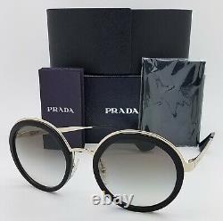 Nouvelles Lunettes De Soleil Prada Pr50ts 1ab0a7 54mm Black Gold Grey Gradient Authentic Women