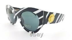 Nouvelles Lunettes De Soleil Versace Ve4353 531387 51mm Blanc / Noir Gris Vert Authentique 4353