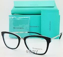 Nouvelles Lunettes Tiffany & Co. Frame Rx Tf2186 8274 52mm Black Blue Silver Authentic