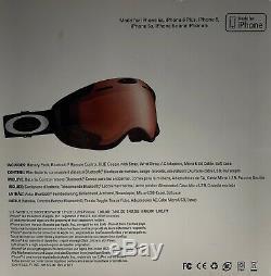 Oakley Airwave 1.5 Lunettes Oo7049-06 Noir Iridium Argent Texte Hud Gps Bluetooth