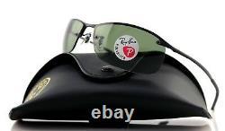 Polarisée Nouveau Ray-ban Active Lunettes De Vie Mat Black Black Sunglasses Rb3183 W3339