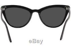 Prada Femmes Spr01v Spr / 01 / V 1ab-5s0 Fashion Black Cat Eye Sunglasses 56mm