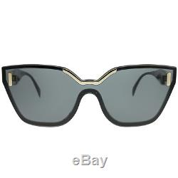 Prada Pr 16ts 1ab5s0 Lunettes De Soleil Cat-eye En Plastique Noires Verres Gris