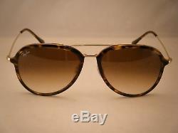 Ray Ban 4298 Light Havana W Brown Gradient Lens Nouvelles Lunettes De Soleil (rb4298 710/51)