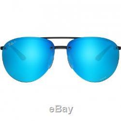 Ray Ban Rb4293 Ch 4293 601 / A1 Noir Bleu Lunettes De Soleil Chromance Polarisées 64mm