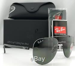 Ray Ban Rb8059 Aviator Lunettes De Soleil 004 / 9a Gris Métal Vert Polarized 57mm