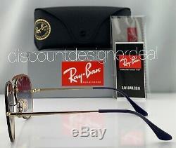 Ray-ban Aviator Rb3584n Blaze 9140 / 0u Gold Frame Violet Dégradé Objectif
